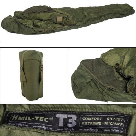 Spací pytel - Spacák TACTICAL T3 ZELENÝ + Dárek ZDARMA