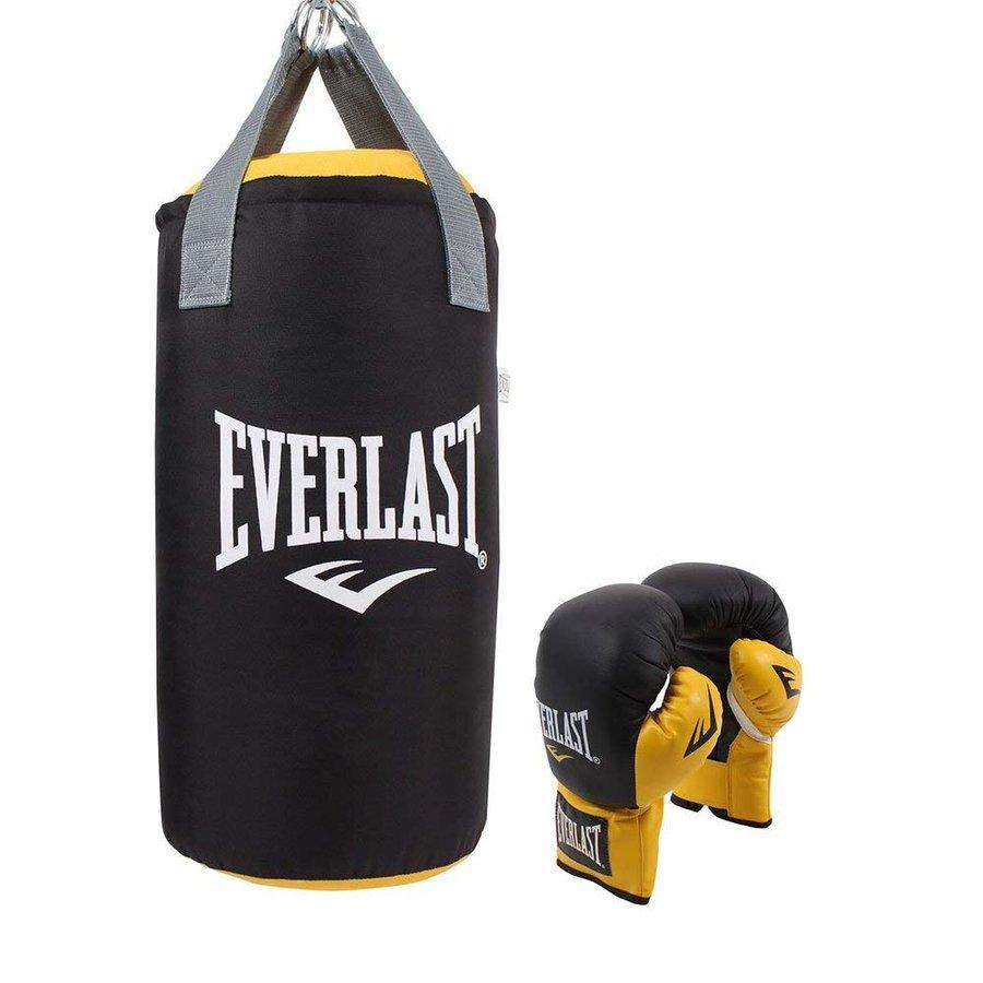 Černo-žlutá dětská boxovací sada Everlast 1x pytel, 1x rukavice