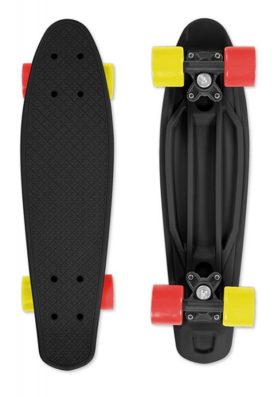 Skateboard - Skateboard FIZZ BOARD Black Red-Yellow, černý
