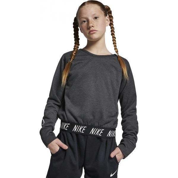 Šedá dívčí mikina bez kapuce Nike
