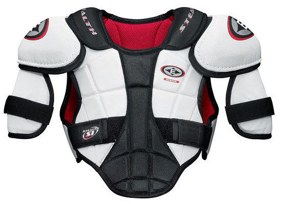 Bílý hokejový chránič ramen - senior Easton - velikost S