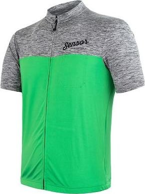 Šedo-zelený pánský cyklistický dres Sensor