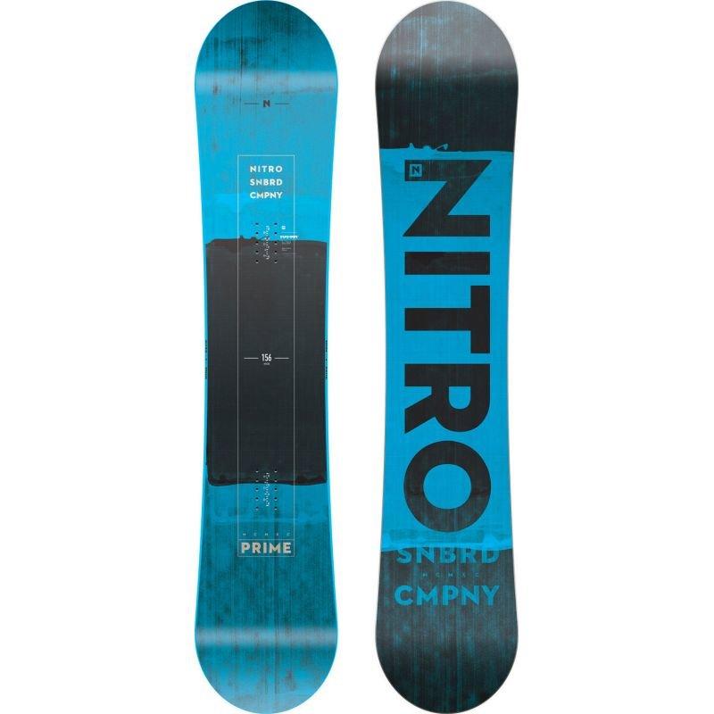 Modrý snowboard bez vázání Nitro - délka 156 cm
