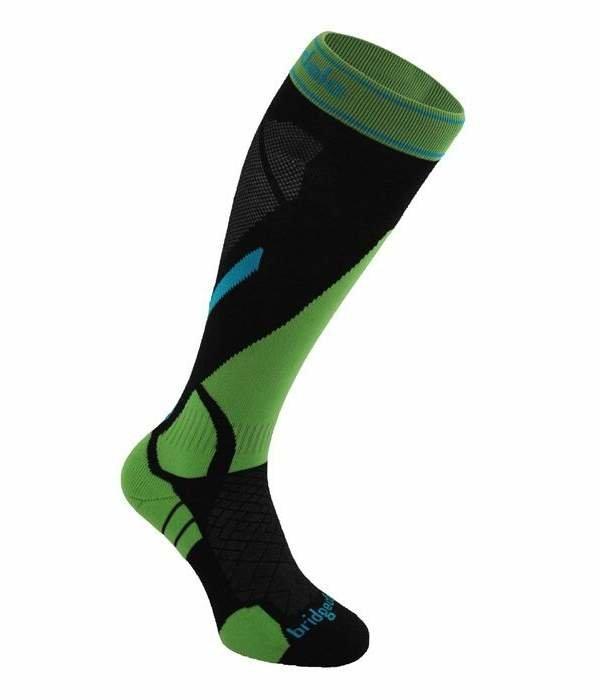 Černo-zelené pánské lyžařské ponožky Bridgedale