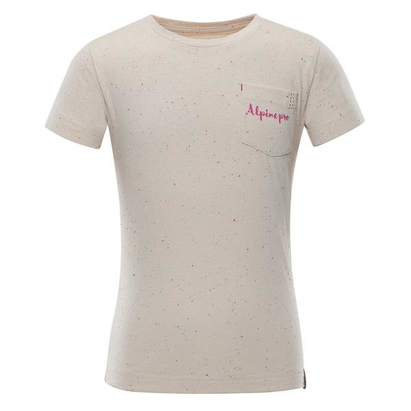 Růžové dívčí tričko s krátkým rukávem Alpine Pro - velikost 92-98