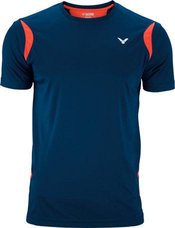 Modré pánské funkční tričko s krátkým rukávem Victor