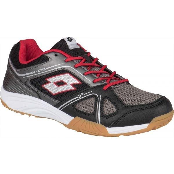 Černo-šedé pánské boty na volejbal Lotto