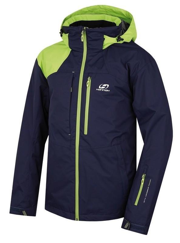 Modro-zelená pánská bunda Hannah - velikost L
