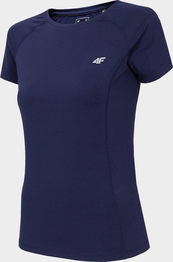 Modré dámské funkční tričko s krátkým rukávem 4F - velikost L