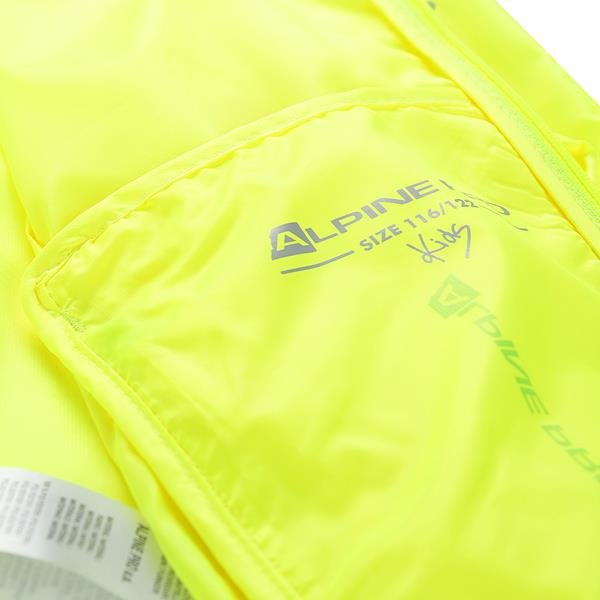 Žlutá dětská sportovní bunda Alpine Pro
