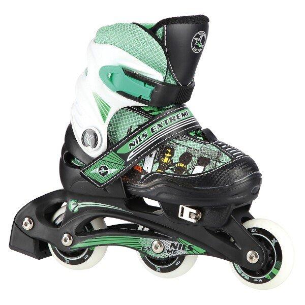Zelené dětské kolečkové brusle Nils Extreme - velikost 30-33 EU