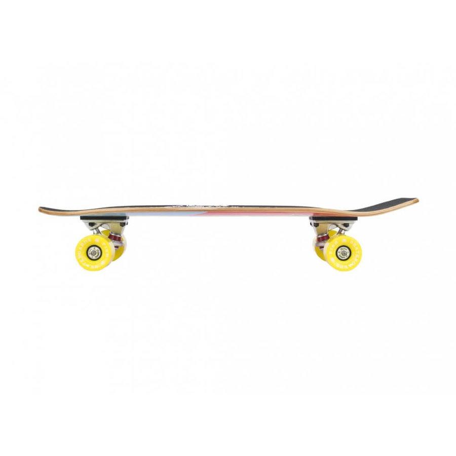 "Longboard - Mini longboard Fish Old School Cruiser Szczupak 26"" Silver-Yellow"