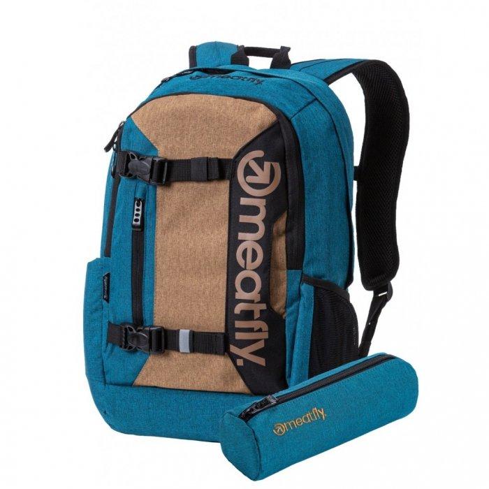Hnědo-modrý batoh Meatfly