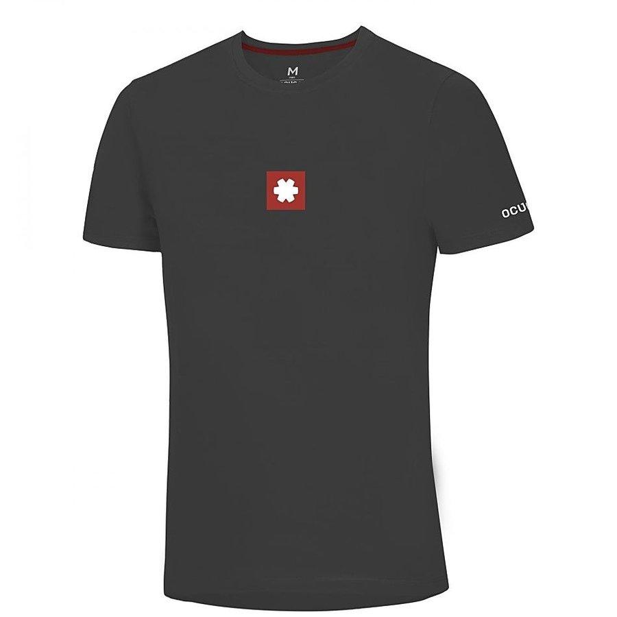 Černé pánské turistické tričko s krátkým rukávem Ocún