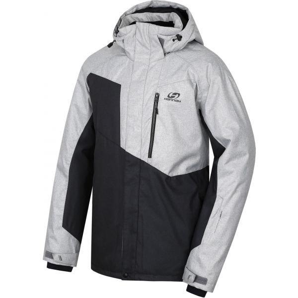 Bílo-černá pánská lyžařská bunda Hannah - velikost XL