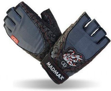 Černo-modré fitness rukavice Madmax
