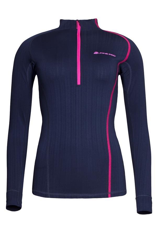 Modré dámské funkční tričko Alpine Pro - velikost XS