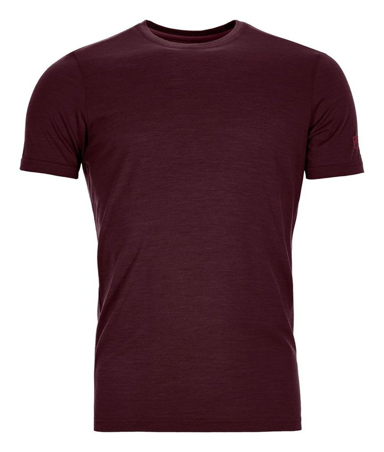 Červené pánské termo tričko s krátkým rukávem Ortovox