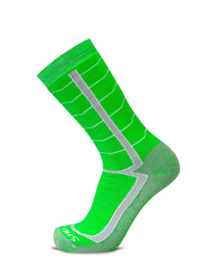 Zelené pánské trekové ponožky Sherpax - velikost 35-38 EU