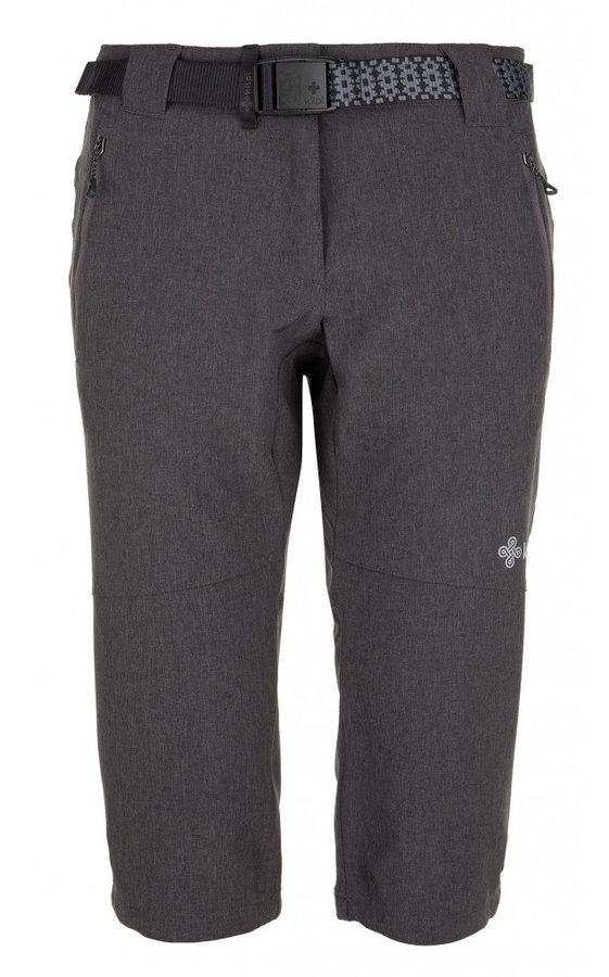 Kalhoty - Dámské 3/4 kalhoty Kilpi Dalarna W Velikost: M (38) / Barva: šedá