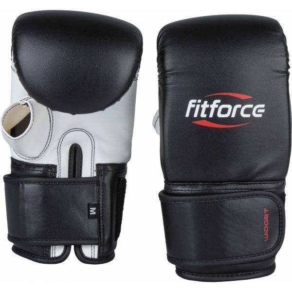 Černé boxerské rukavice Fitforce - velikost S