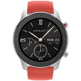 Červené chytré hodinky Amazfit GTR, Xiaomi