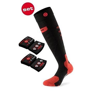 Černé lyžařské ponožky s vyhříváním Lenz