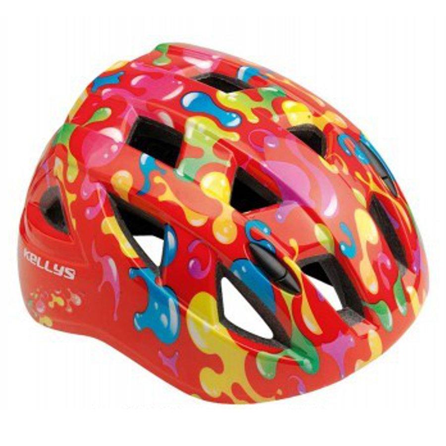 Červená dětská cyklistická helma Kellys - velikost 54-58 cm