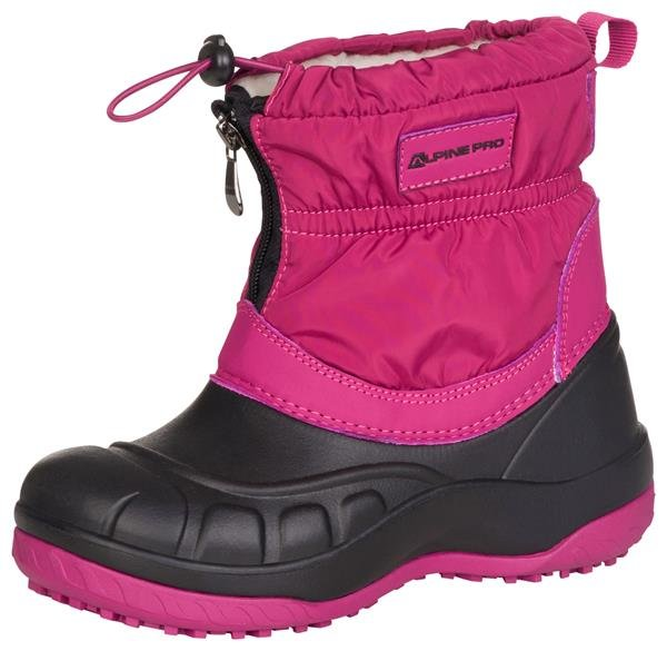Fialovo-růžové dívčí zimní boty Alpine Pro - velikost 32 EU