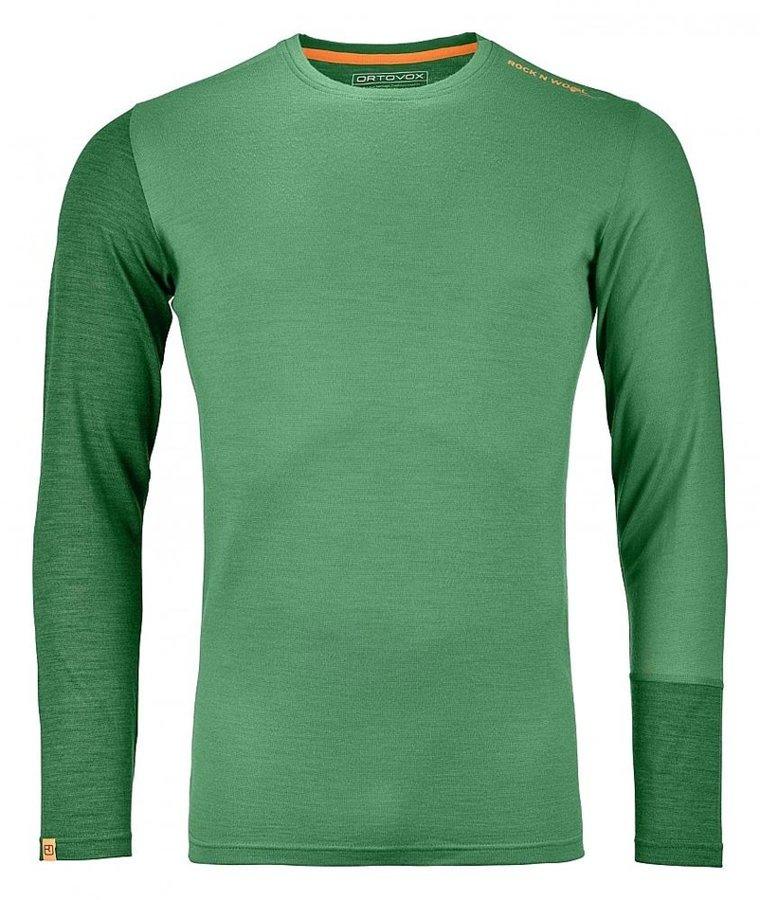 Zelené pánské termo tričko s dlouhým rukávem Ortovox - velikost XXL