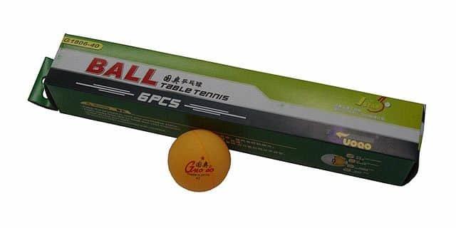 Oranžový míček na stolní tenis Acra - 6 ks