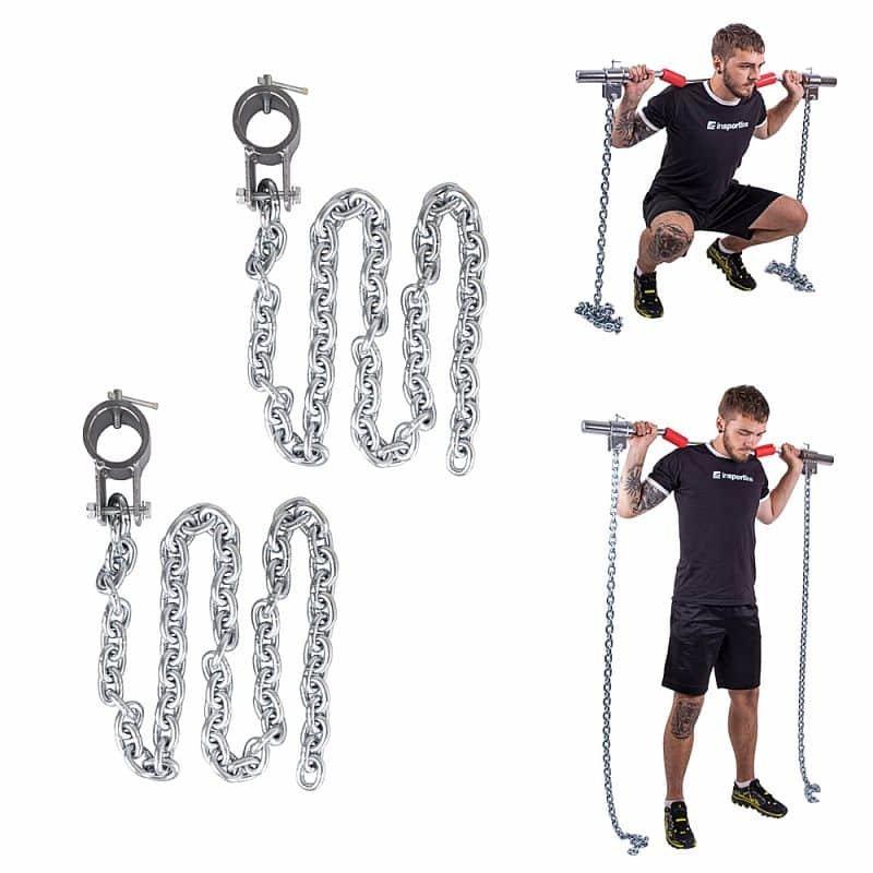Vzpěračský řetěz inSPORTline - 5 kg - 2 ks