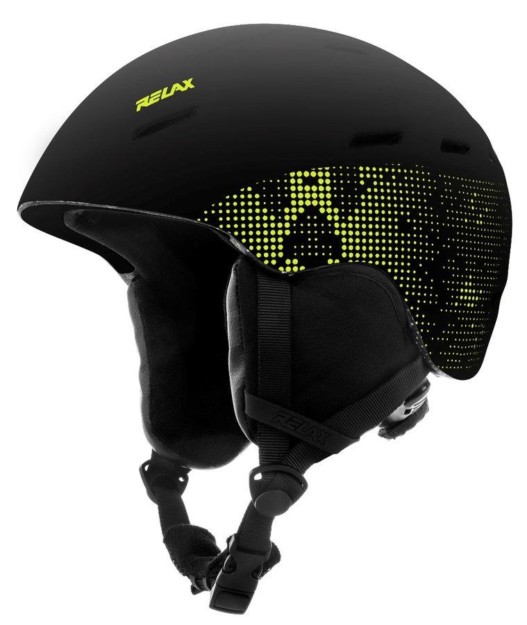 Černá lyžařská helma Relax - velikost L