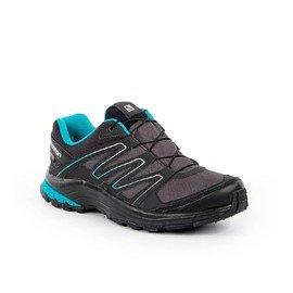 Černé voděodolné dámské trekové boty - obuv Salomon