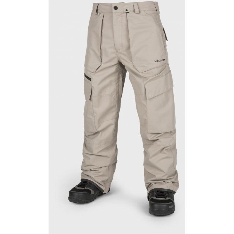 Béžové pánské snowboardové kalhoty Volcom - velikost M