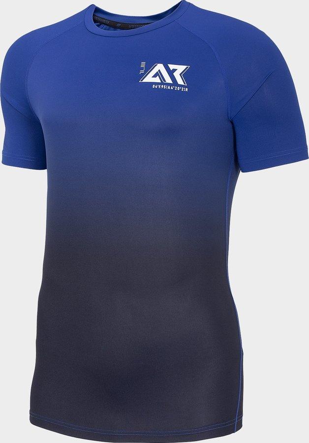 Modré pánské běžecké tričko 4F - velikost L