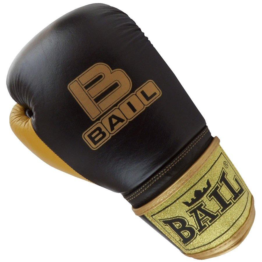 Černo-zlaté boxerské rukavice Bail - velikost 12 oz