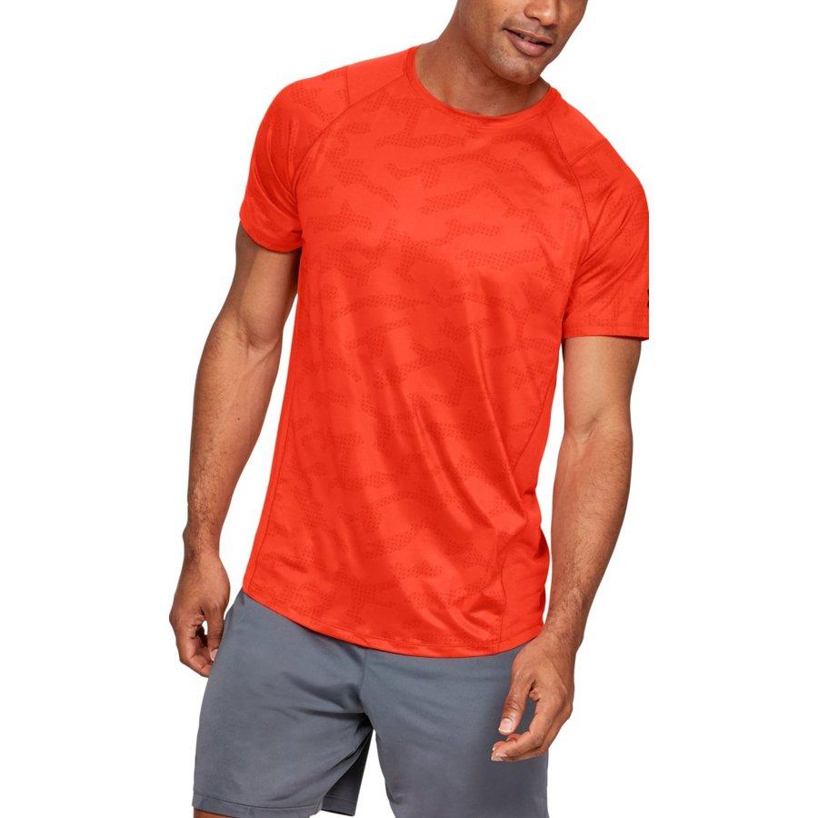 Oranžové pánské tričko s krátkým rukávem Under Armour - velikost S