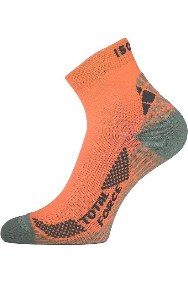 Oranžové pánské běžecké ponožky Lasting