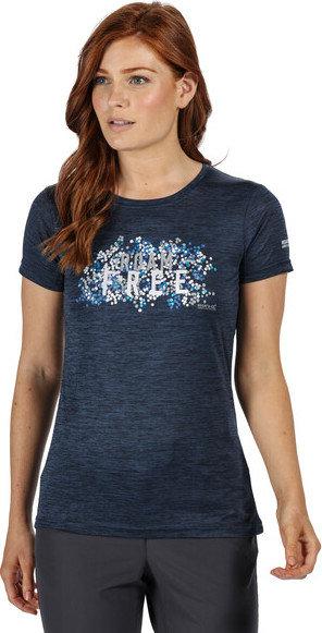 Modré dámské funkční tričko s krátkým rukávem Regatta
