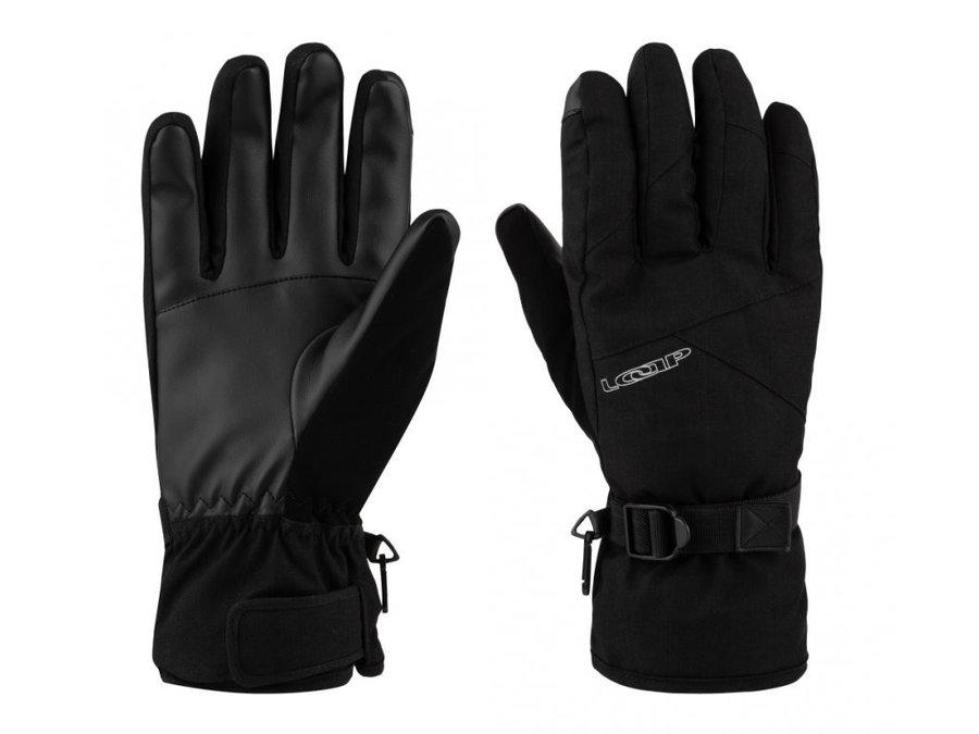 Černé dámské lyžařské rukavice Loap - velikost XXL