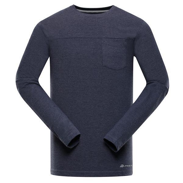 Modré pánské tričko s dlouhým rukávem Alpine Pro