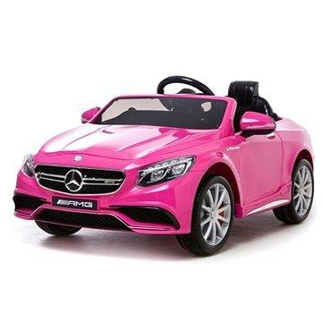 Růžové dětské elektrické autíčko ercedes-Benz S63 AMG, Beneo