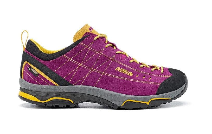 Fialové voděodolné dámské trekové boty - obuv ASOLO
