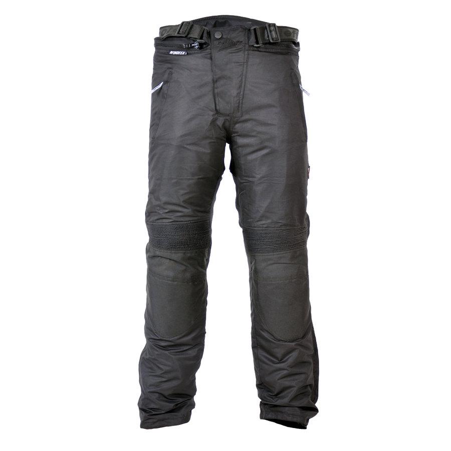 Černé pánské motorkářské kalhoty Roleff - velikost XL