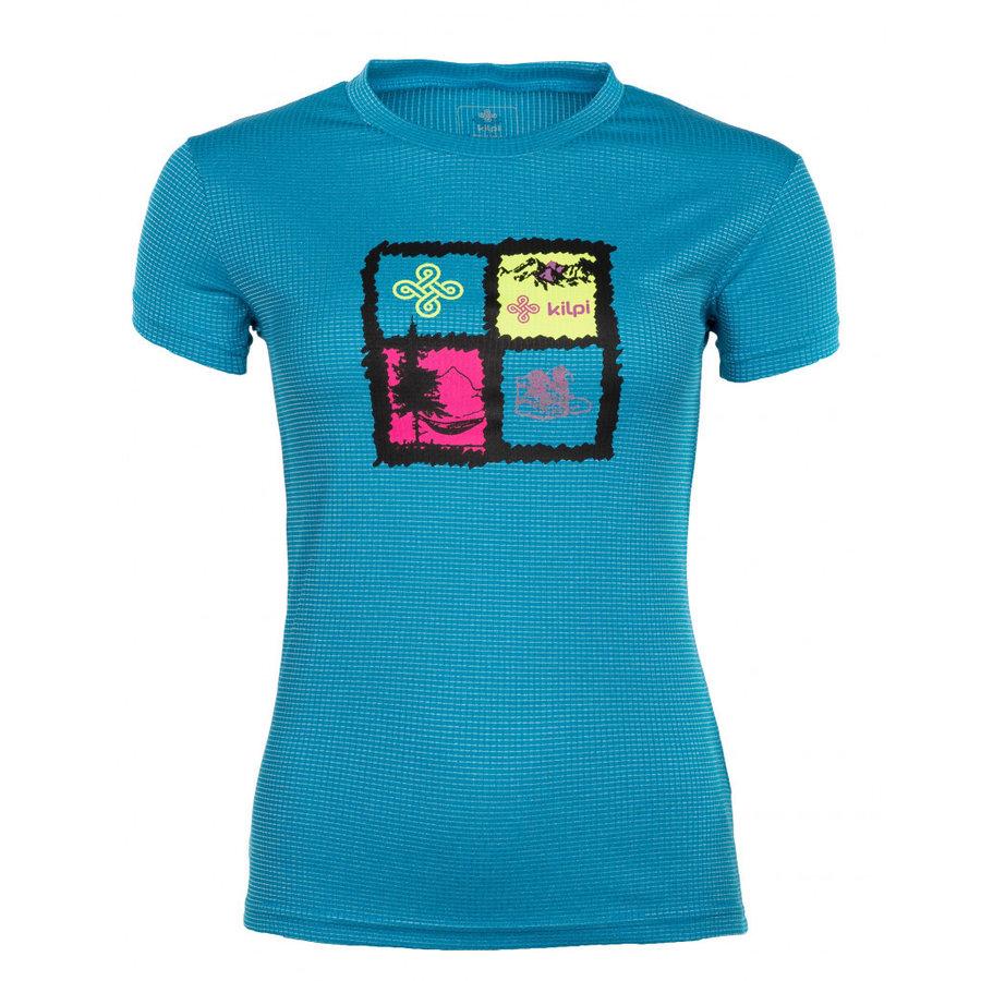 Modré dámské funkční tričko s krátkým rukávem Kilpi