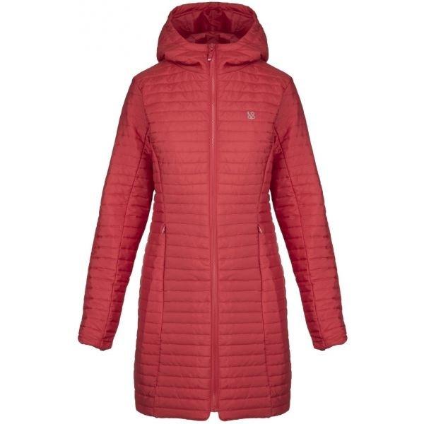 Červený zimní dámský kabát Loap