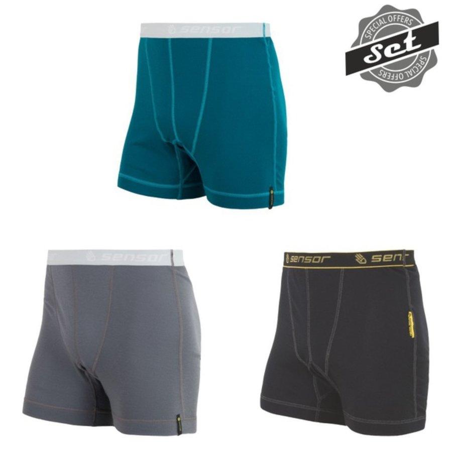Různobarevné pánské boxerky Sensor - velikost XXL - 3 ks
