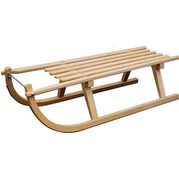 Hnědé dřevěné sáňky Sulov - délka 100 cm