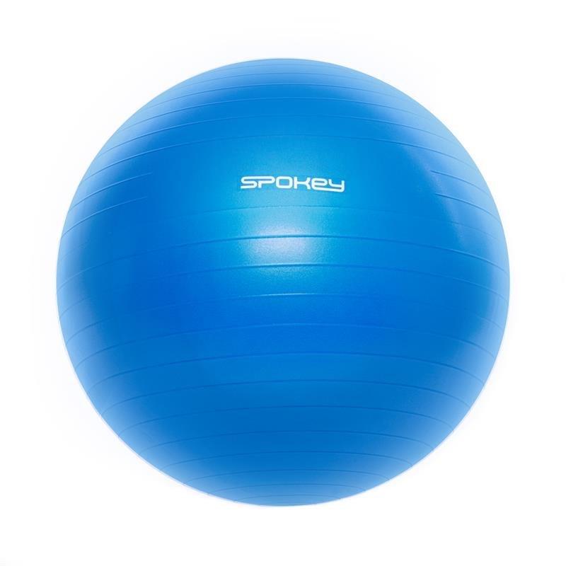 Modrý gymnastický míč s pumpou Spokey - průměr 65 cm